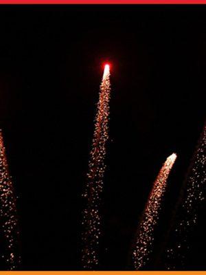 اجرا راکت آتش بازی آسمانی